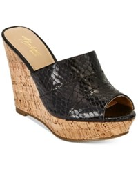 Thalia Sodi Jadey Cork Wedge Sandals Only At Macy's Women's Shoes Black