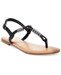 Bar Iii Vortex Flat Sandals Only At Macy's Women's Shoes Black