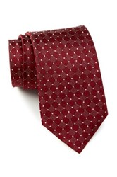 English Laundry Circle Silk Tie Red