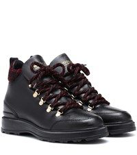 Woolrich Leather Ankle Boots Black