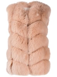 Yves Salomon Short Fur Gilet Pink