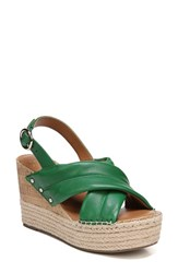 Franco Sarto By Niva Espadrille Wedge Sandal Summer Green Leather