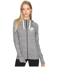 Nike Gym Vintage Full Zip Hoodie Carbon Heather Sail Women's Sweatshirt Gray