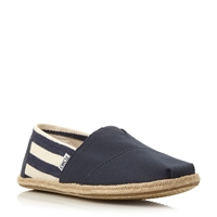 Toms University Slip On Casual Espadrilles Navy