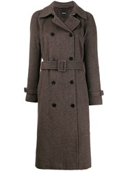 Theory Checked Belted Coat 60