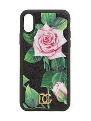 Dolce And Gabbana Printed Dufin I Phone X Xs Case Rose