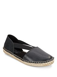 Kenneth Cole Reaction Embossed Espadrille Flats Black