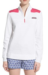 Women's Vineyard Vines 'Shep' Quarter Zip French Terry Pullover