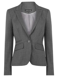 Warehouse Pinstripe Blazer Grey