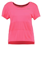 Nike Performance City Core Sports Shirt Racer Pink Reflective Silver Neon Pink