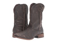 Roper Native Sanded Brown Leather Cowboy Boots