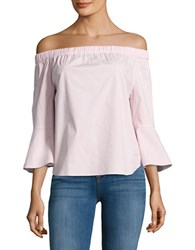 Lord And Taylor Petite Petite Lily Off The Shoulder Shirt Red