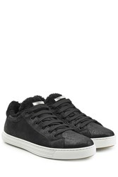Dsquared2 Shearling Lined Sneakers Black