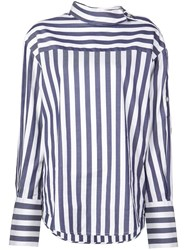 Monse Striped Shirt Blue