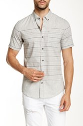 Burnside Short Sleeve Striped Shirt Gray