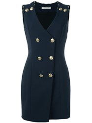 Balmain Pierre Military Dress Blue