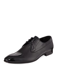 Jared Lang Perforated Leather Lace Up Dress Shoes Black