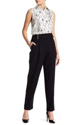 Jason Wu Gauze High Waist Wool Pant Black