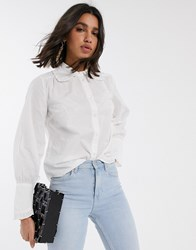 Y.A.S Shirt With Lace Collar Multi