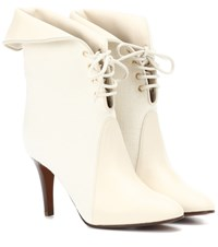 Chloe Kole Canvas And Leather Ankle Boots White