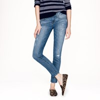 J.Crew Toothpick Jean In Distressed Cone Denim