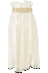 Toga Pleated Organza Midi Skirt