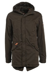 Superdry Classic Rookie Military Parka Forest Khaki Oliv