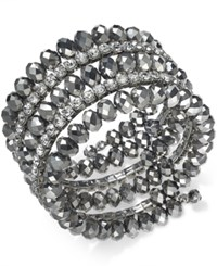 Inc International Concepts Coil Wrap Beaded Bracelet Created For Macy's Silver