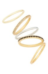 Madewell Women's Set Of 5 Filament Stackable Rings