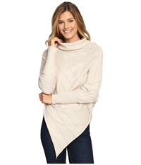 Aventura Clothing Mariska Poncho Heathered Oatmeal Women's Coat Gray