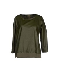 Annarita N. Sweatshirts Military Green