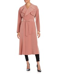 Highline Collective Open Front Lightweight Trench Topper Pink
