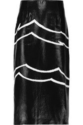 Missoni Embroidered Lame Midi Skirt Black