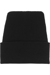 Acne Studios Donald Ribbed Wool Beanie Black