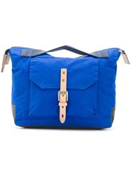 Ally Capellino Buckled Pocket Tote Blue