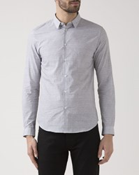 Ikks Black Spotted Slim Fit Shirt