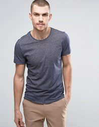Casual Friday T Shirt In Marl Black