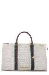Brahmin Anywhere Weekend Leather Bag White Coconut