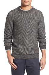 Men's Billy Reid Herringbone Crewneck Sweater
