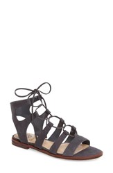 Vince Camuto Women's Tany Lace Up Sandal Nocturnal Nubuck Leather