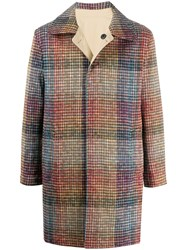 Missoni Single Breasted Checked Coat 60