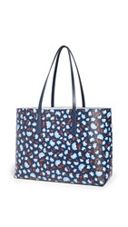 Kate Spade New York Molly Party Floral Large Tote Blazer Blue Multi