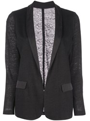 Majestic Filatures Lightweight Fitted Blazer Black