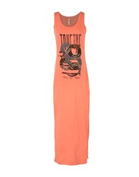 Met 3 4 Length Dresses Orange
