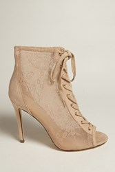 Forever 21 Lace High Heels Nude