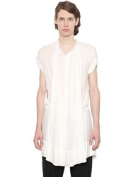 Ann Demeulemeester Pleated Viscose Crepe Tunic Shirt