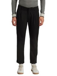 Saks Fifth Avenue Modern Pleated Cropped Trouser Black