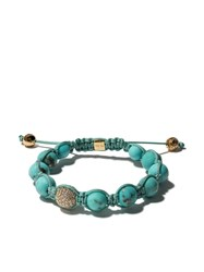 Shamballa Jewels 18Kt Yellow Gold Jewels Turquoise And Green