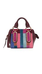 See By Chloe Paige Patchwork Satchel Dark Plum