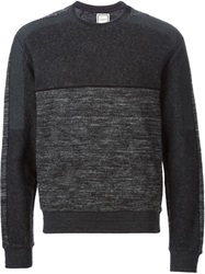 Wooyoungmi Panelled Sweater Grey